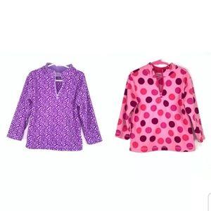 Lot of 2 Hanna Andersson Girls sz 100 Pink purple